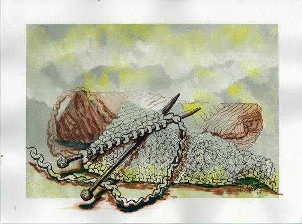 painting of yarn