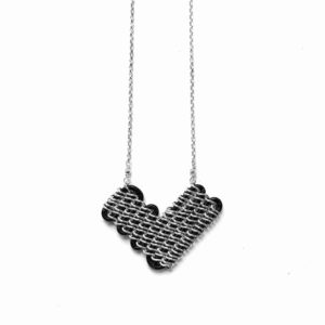 Solid Design Studios Annaway Sterling Silver & Black Leather Necklace