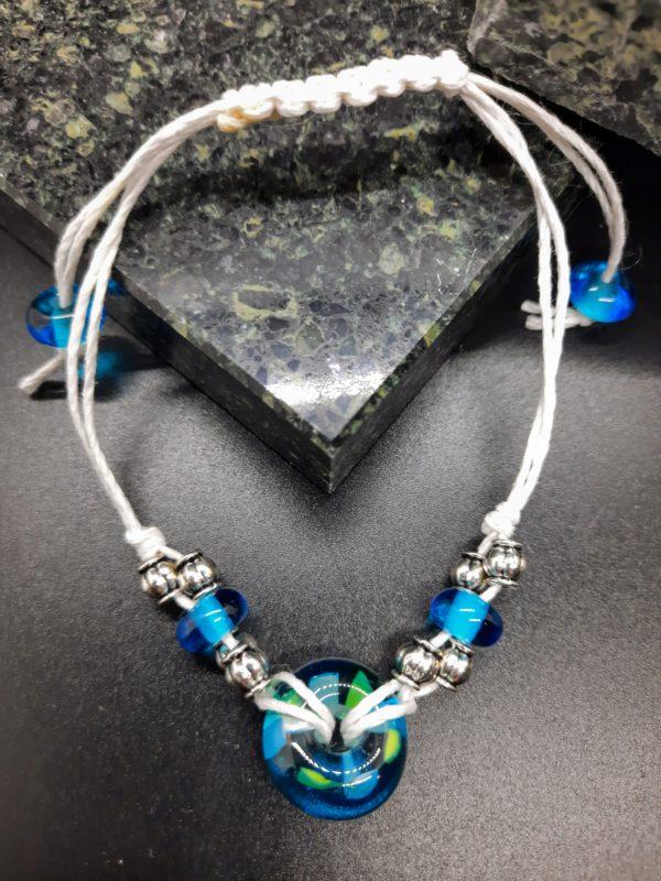 Aquamarine beachball bracelet