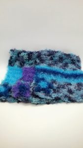 Blues with blues and purple dishcloth-multi