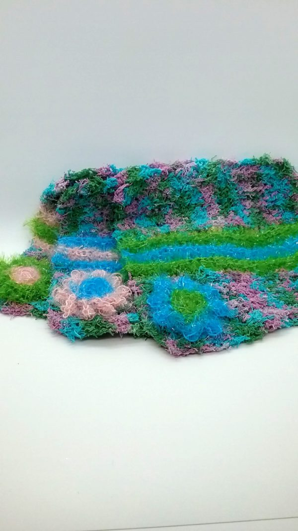 Calypso with blue, light pink and green stripes dishcloths-multi