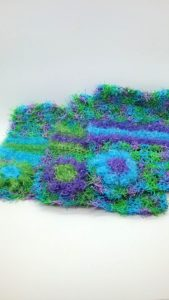 Caribbean with purple, blue and green stripes dishcloths-multi
