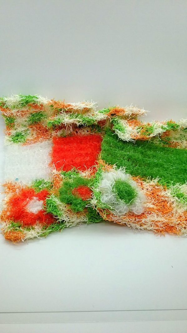 Citrus with white, orange and green dishloths-multi