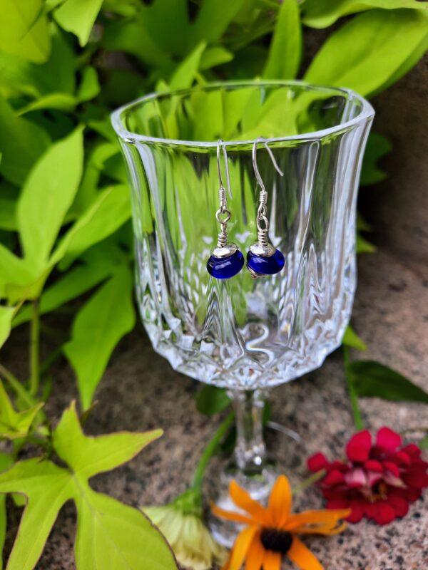 Cobalt blue - dangle earrings