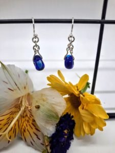Cobalt with heart in silver