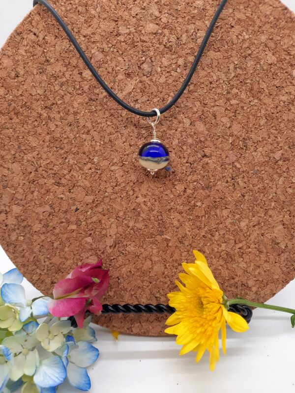 Cobalt blue with sand choker - necklace