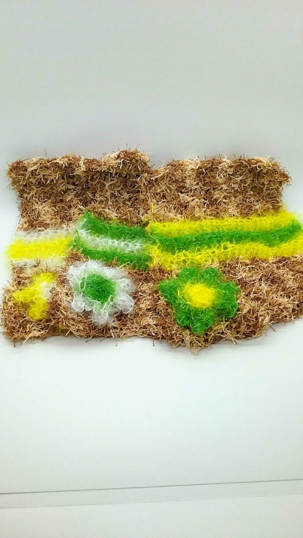Coffee with green, yellow and white stripes-multi