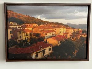 Scene from our balcony in Cortona