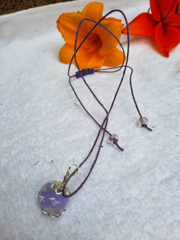 Crocus foil - necklace