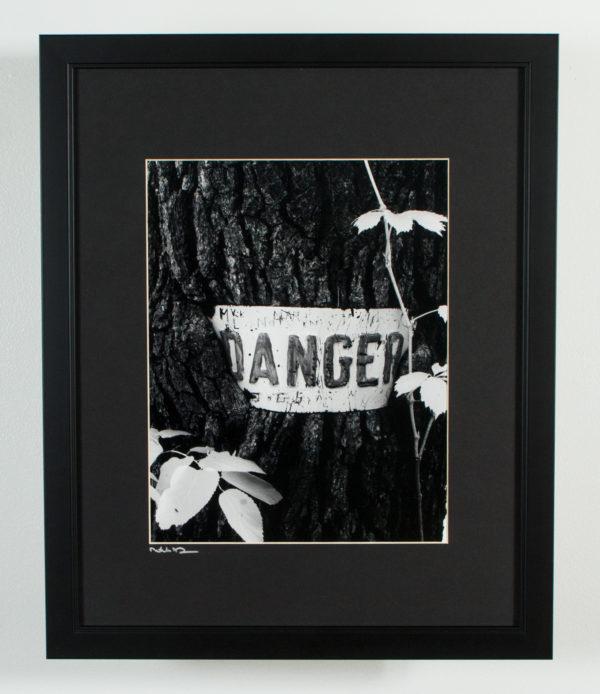 Danger framed black