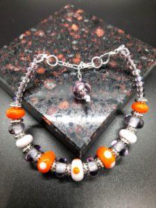 Dotty pink and orange bracelet