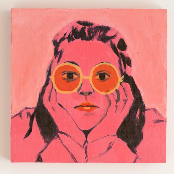 Woman in Pink – Original Acrylic Painting by Amanda Webster