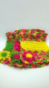 Fiesta with yellow, pink and green-multi