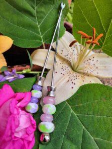 Floral-esque pink crocus appy forks