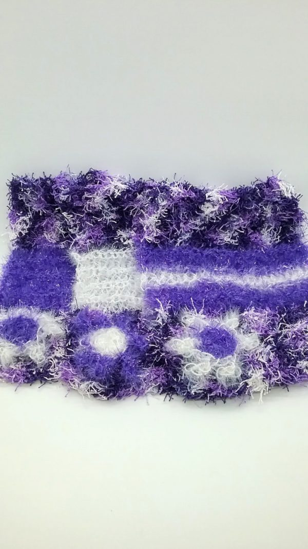 Grape purple with white and purple dishcloths-multi