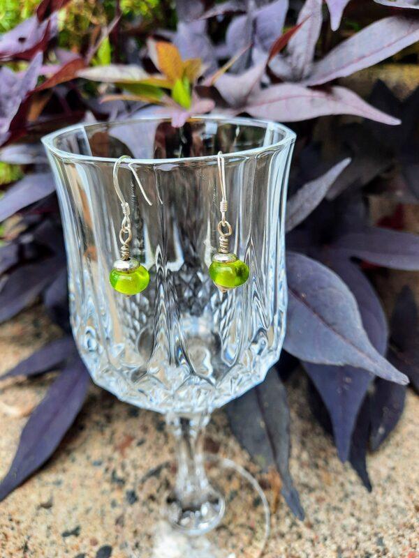 Grass green - dangle earrings