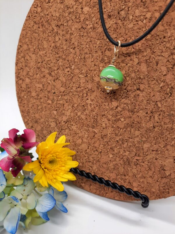 Gulf green with sand choker - necklace