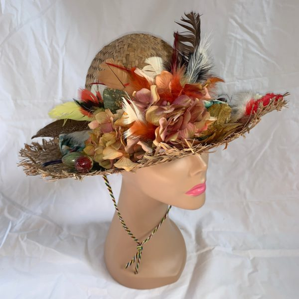 Upcycled late 1970's Hat