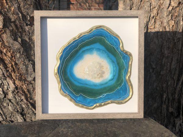 Island Blue Geode Slice