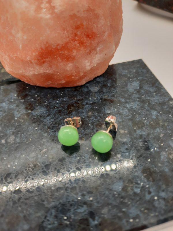 Sea green post/stud earrings