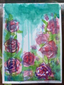 Watercolor Rosess