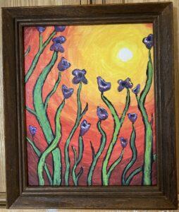 Purple Flowers in Sun
