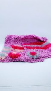 Lavender with pink and silver dishcloths-solid