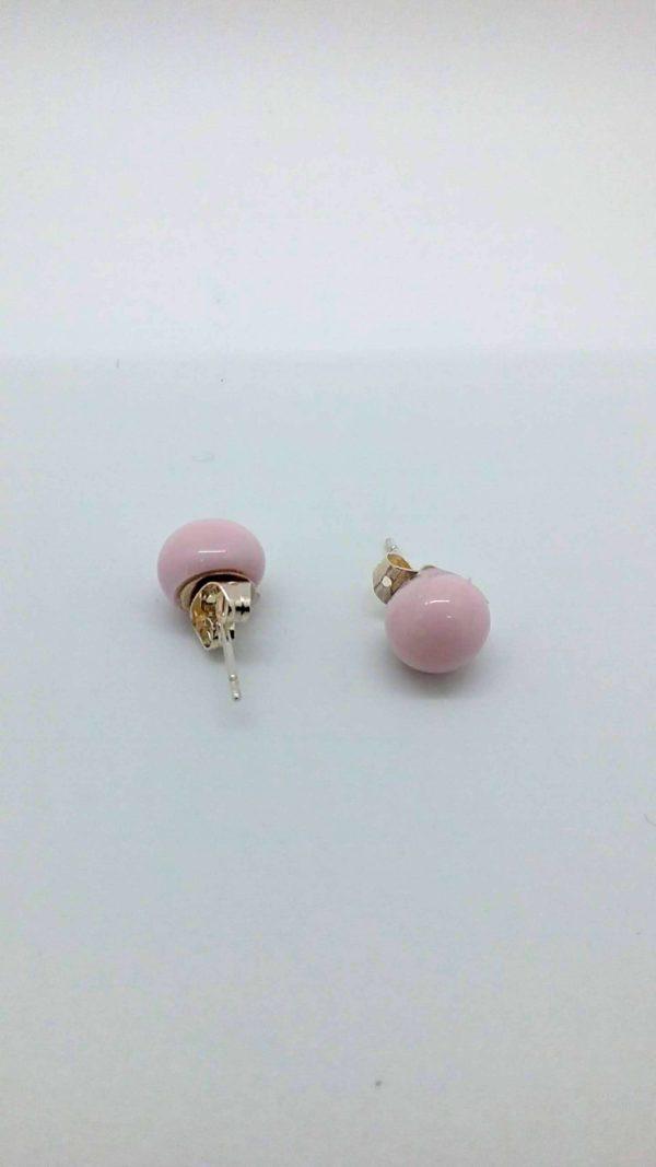 Light pink glass post/stud earrings