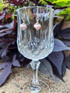 Light pink - dangle earrings