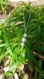 Light pink dotty silver necklace