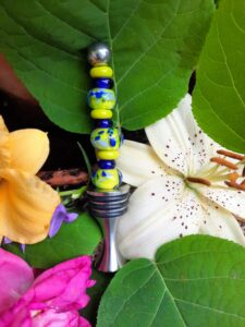 Lime and blues bottle stopper