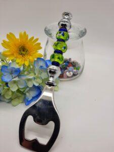 Lime foil with cobalt - bottle opener