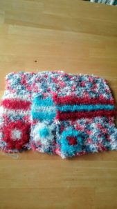Nautical with red, light blue and white stripes dishcloths-multi
