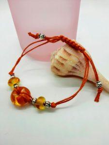 Orange and Ale Beachball Bracelet