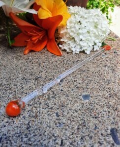 Orange crush swizzle stick