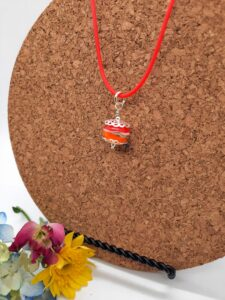 Oranges and cream choker - necklace