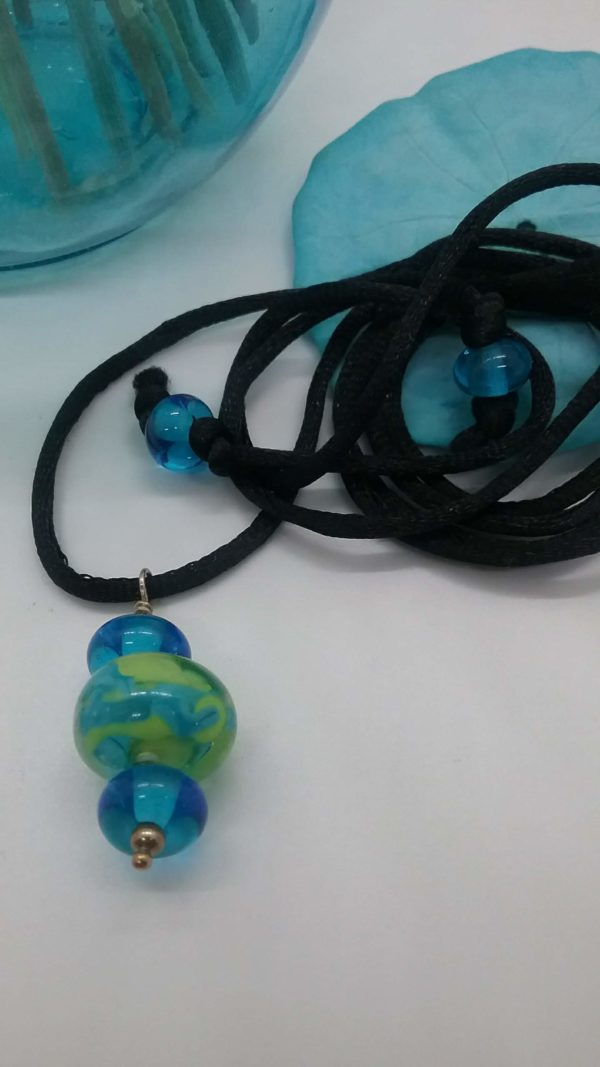 PAG beach necklace on black cord