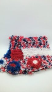 Patriotic with red, white and blue dishcloths-multi