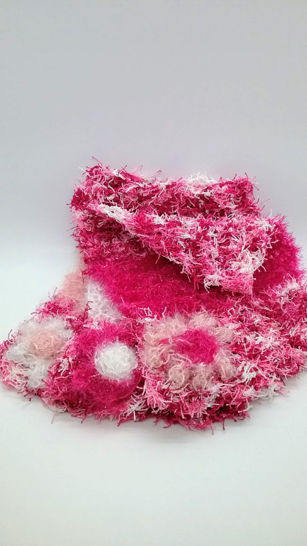 Peppermint pink with white and pinks dishcloths-multi