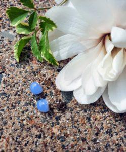 Periwinkle misty post/stud earrings