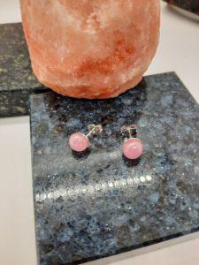 Misty pink post/stud earrings