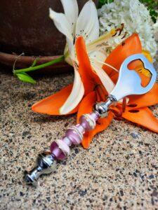 Pink champale - fancy bottle opener