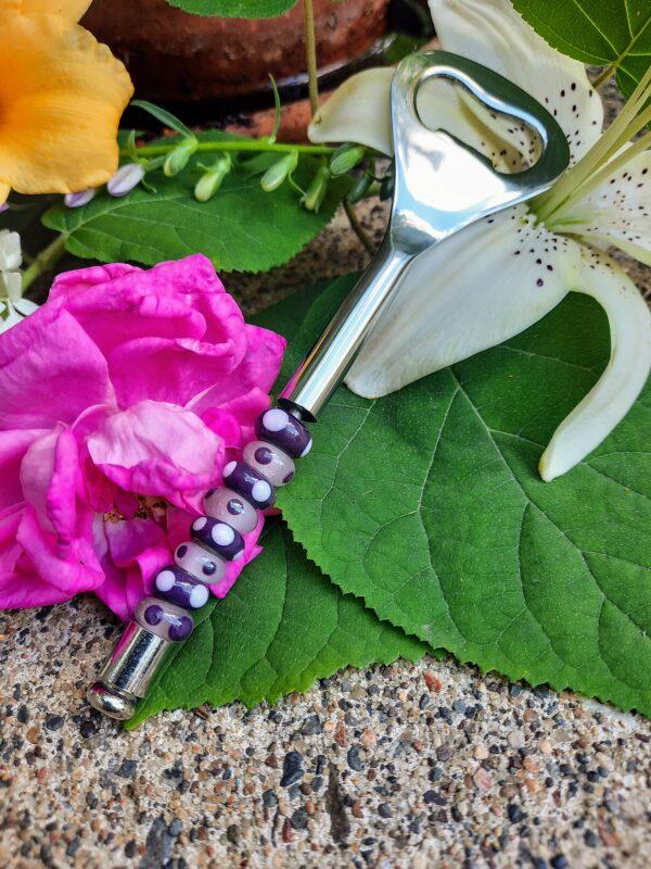 Pink purple dotty bottle opener