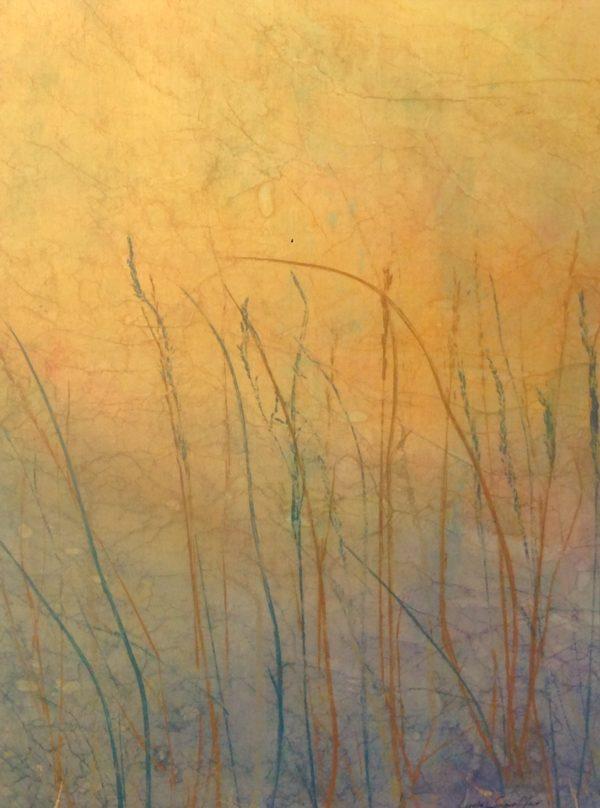 Pond at Dawn ©Linda Snouffer, Botanical Printmaker    Lindasnouffer.com
