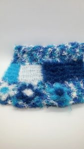 Poolside blues with white, light and dark blue dishcloths-multi