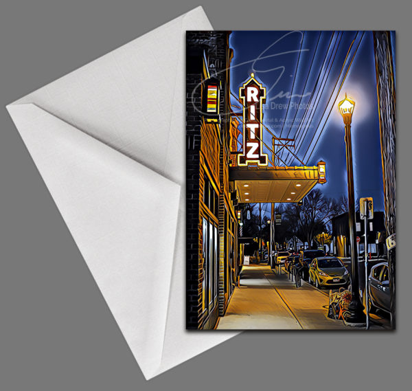 Ritz Theater card by Lisa Drew Photos