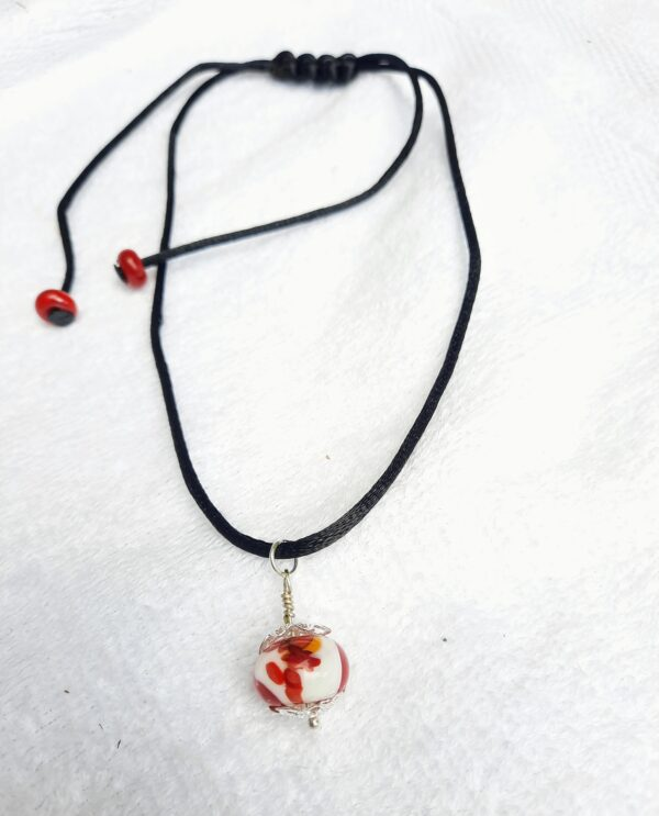 Red dragon on a silky cord necklace