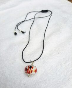 Red dragon on hemp necklace