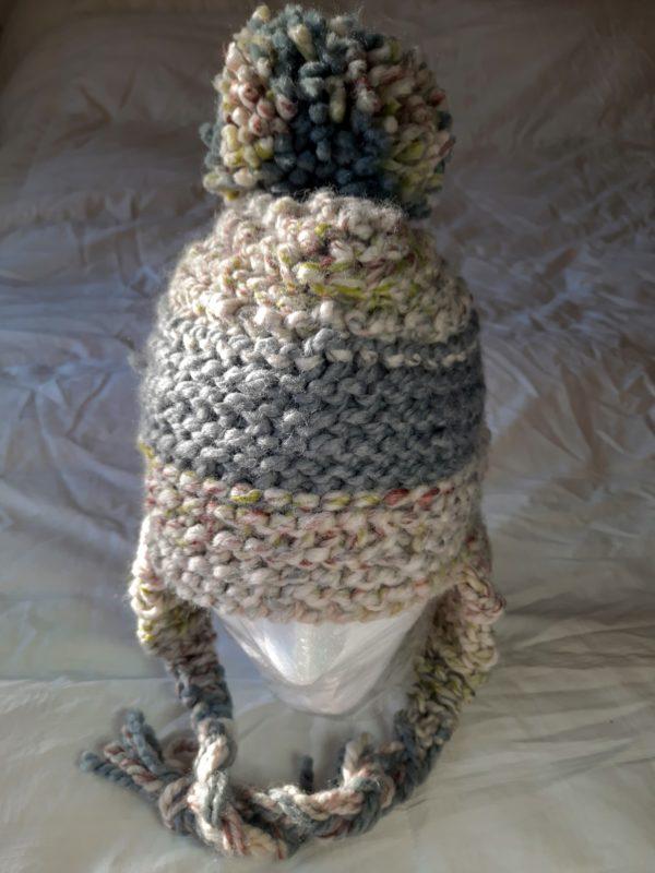 Sage Multi Gray Stripe Hat