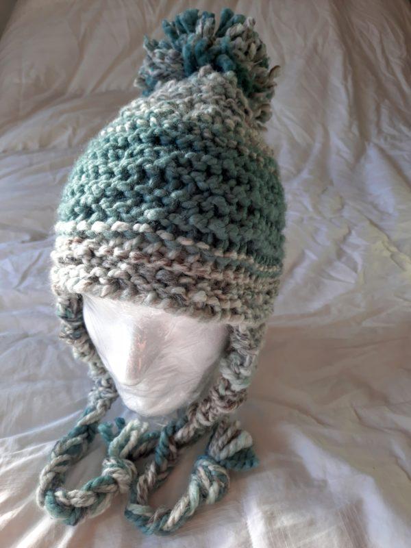 Sea and seaglass stripe hat